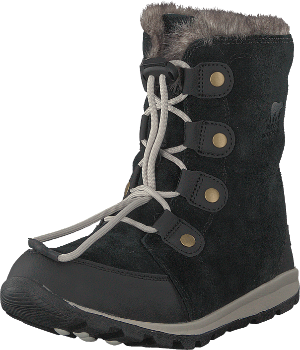 Sorel - Youth Whitney Suede 010, Black, Dark Stone