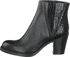 Luisa High Croco Black