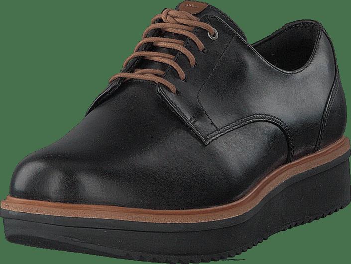 Teadale Rhea Black Leather   Footway