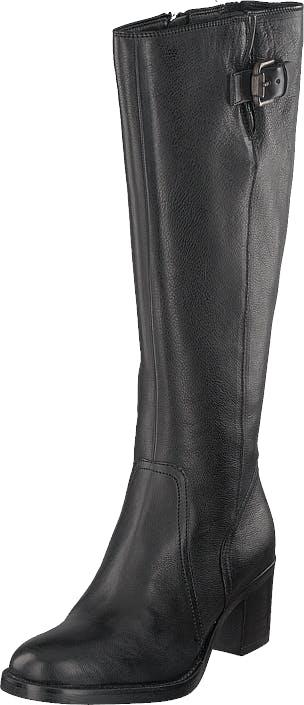 Clarks Mascarpone Ela Black Leather, Skor, Stövlar & Stövletter, Högklackad stövel, Grå, Svart, Dam, 39