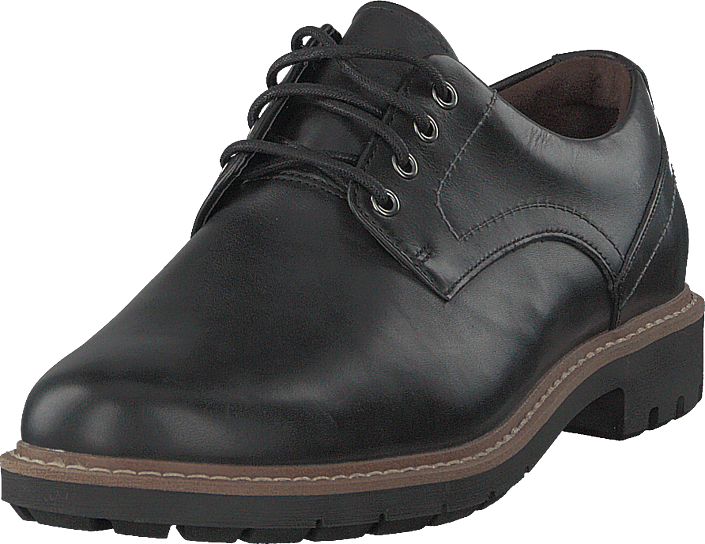 Clarks - Batcombe Hall Black Leather