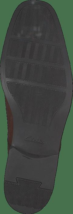 Clarks - Tilden Cap Dark Tan Lea