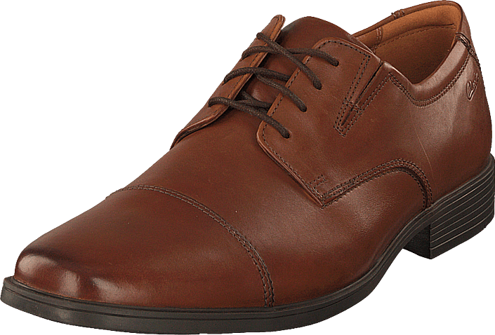 Clarks - Tilden Cap Dark Tan Lea