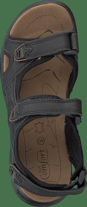 Comfort Black Sandals Kjøp Online Grå Soft Sko Edana 45xxtnq