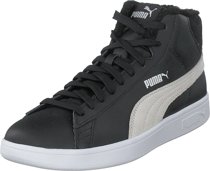 Puma - Puma Smash V2 Mid L Fur Jr Puma Black-puma White