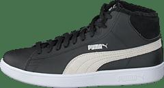 sports shoes 354d5 cf3fe Puma - Puma Smash V2 Mid L Fur Jr Puma Black-puma White