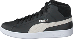 Puma Smash V2 Mid L Fur Jr Puma Black-puma White