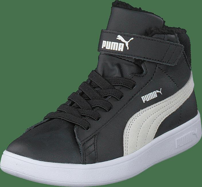 Puma Smash V2 Mid L Fur V Ps Puma Black-puma White
