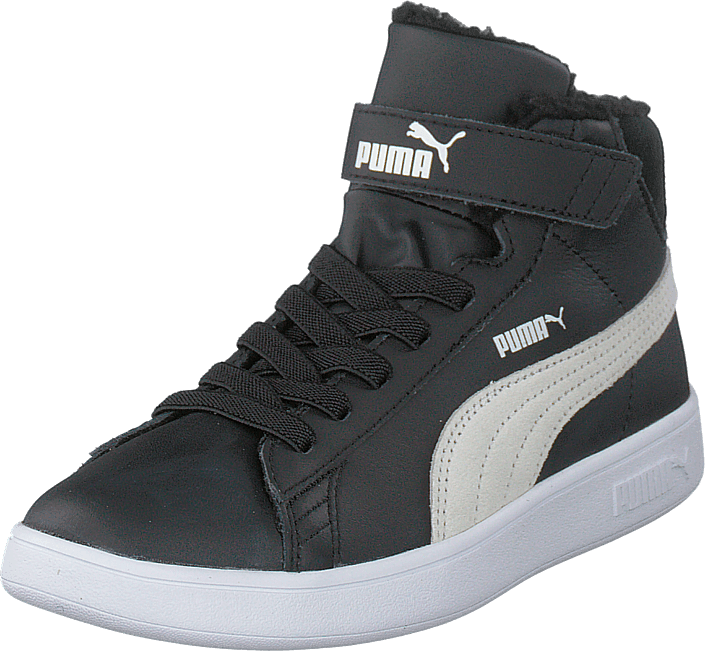 Puma Smash V2 Mid L Fur V Ps Puma Black puma White