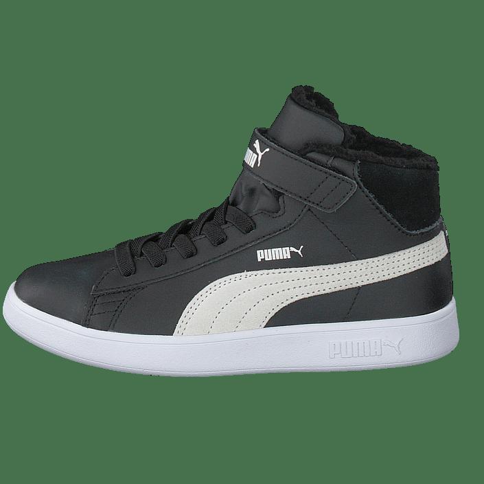 Puma Smash V2 Mid L Fur Jr Puma Black puma White