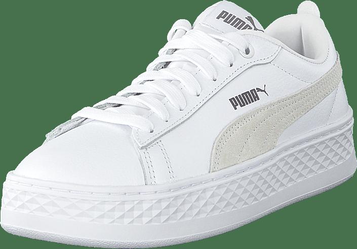 36bc974f185 Köp Puma Puma Smash Platform L White vita Skor Online | FOOTWAY.se