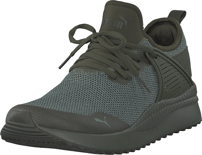 Buy Puma Pacer Next Cage Knit Forest Night-laurel Wreath grey Shoes ... ed133dc99