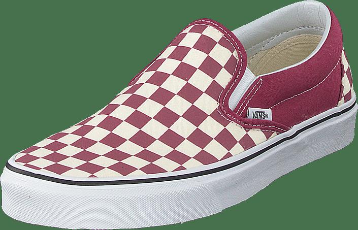 vans checkerboard różowe
