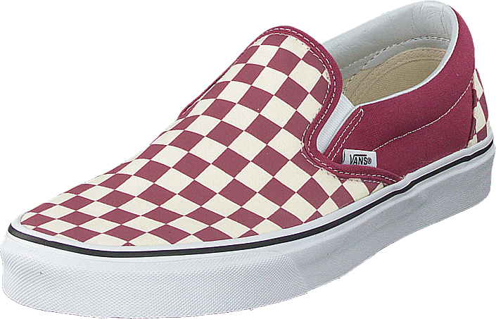 Vans - Ua Classic Slip-on (checkerboard) Dry Rose/white