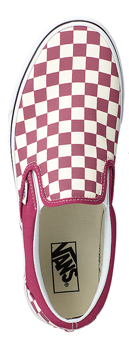Ua Classic Slip-on (checkerboard) Dry Rose/white