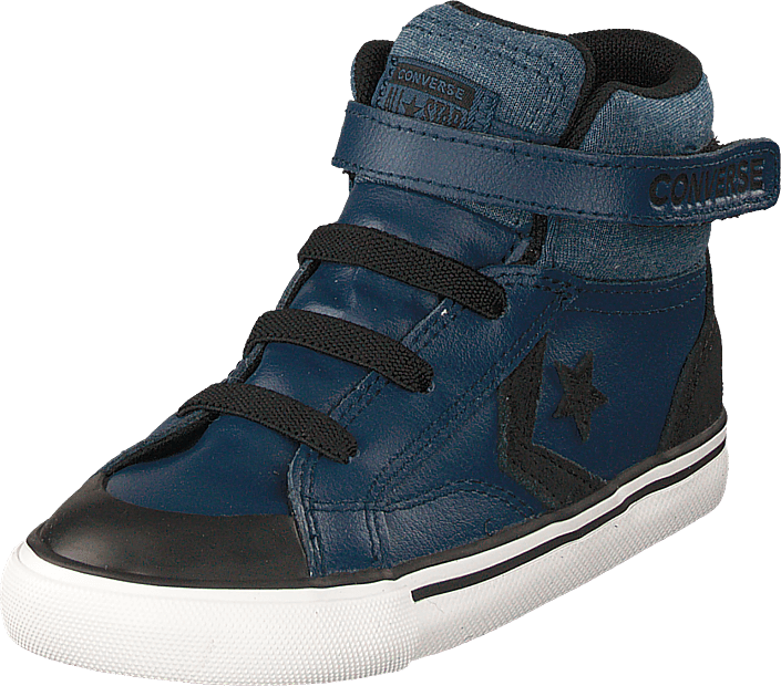 eb9f13425453 Buy Converse Pro Blaze Strap - Hi Navy black white blue Shoes Online ...