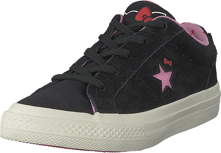 Converse - One Star Ox Black/prism Pink/egret