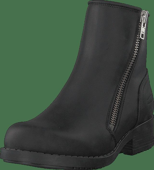 Johnny Bulls - Mid Zip Boot Warm Lining Black/shiny Silver