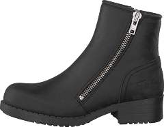 Mid Zip Boot Warm Lining Black/shiny Silver