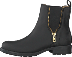 Low Chelsea Boot Black/shiny Gold