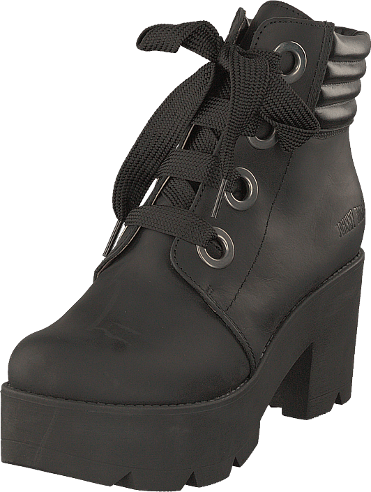 Johnny Bulls - Mid Lace Boot Black/silver