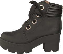 Mid Lace Boot Black/silver