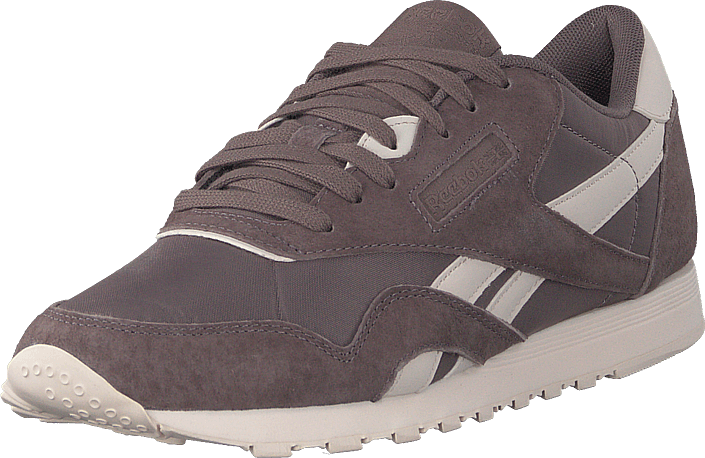 4a676284736 Buy Reebok Classic Cl Nylon Almost Grey pale Pink brown Shoes Online ...