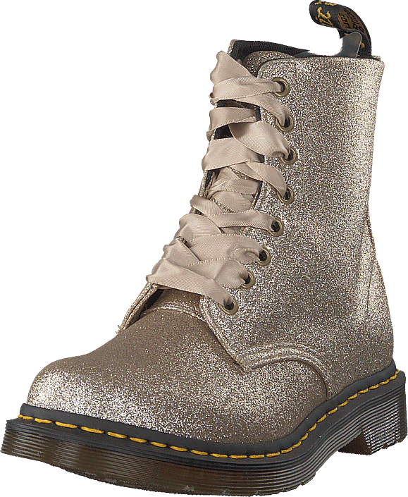ee67adcf7e Buy Dr Martens 1460 Pascal Glitter Pale Gold beige Shoes Online ...