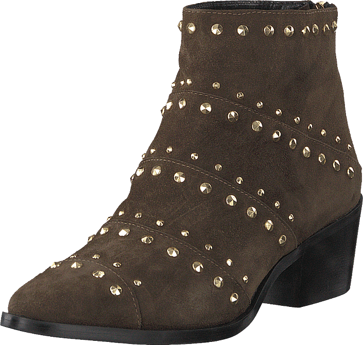 A Pair - Rivet Flat Boot Softy Olivia, Rivets Oro