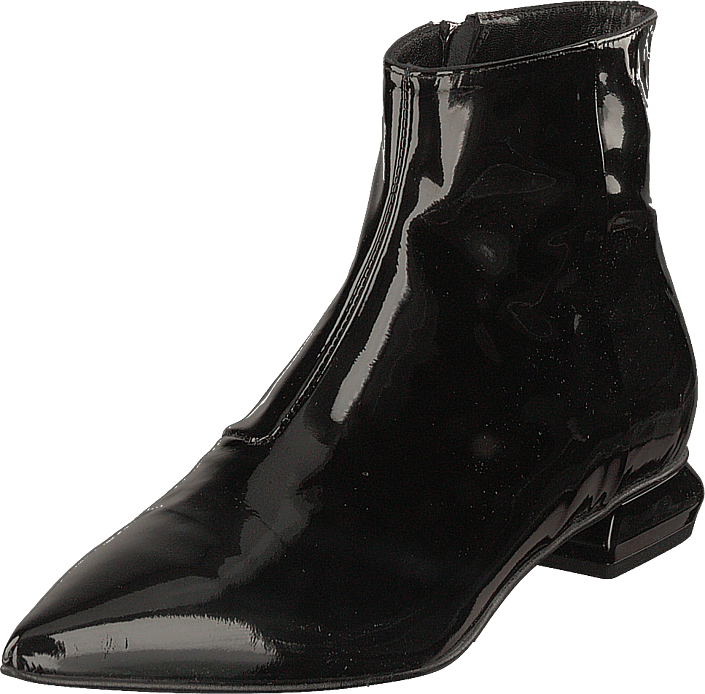 A Pair - Flat Pointed Trend Bootlet Vernice Nero