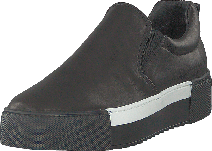 Classic Slip On White Detail Parma Nero