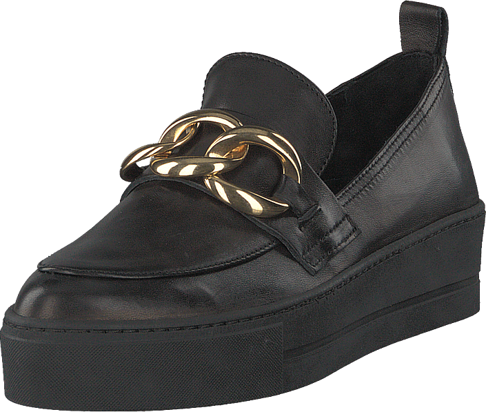A Pair - Gold Chain Slip On Parma Nero