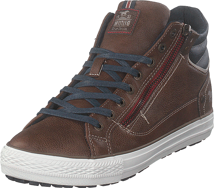 Mustang - High Top Sneaker Braun