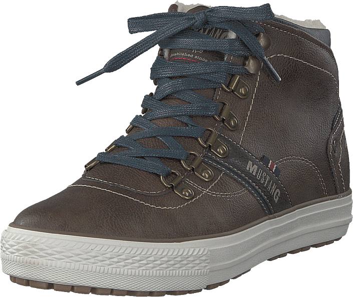 Mustang - High Top Sneaker Mittelbraun