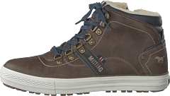 High Top Sneaker Mittelbraun