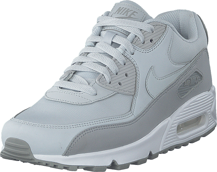 Men's Air Max 90 Essential Wolf Greypure Platinumwhite