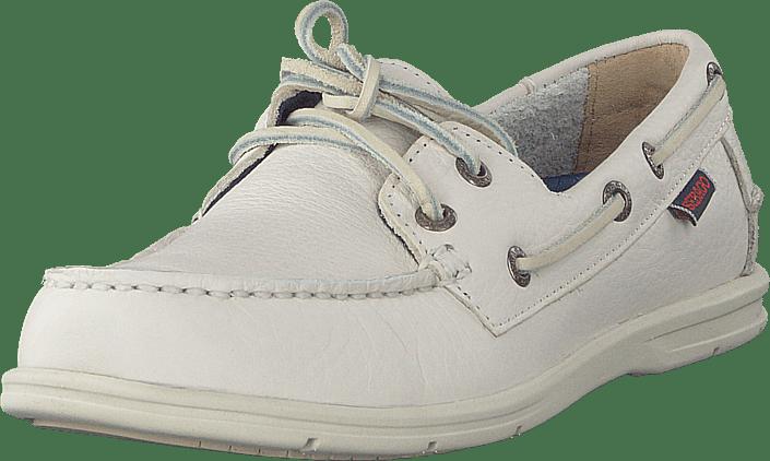 Sebago - Litesides Two Eye White Tumbled Leather