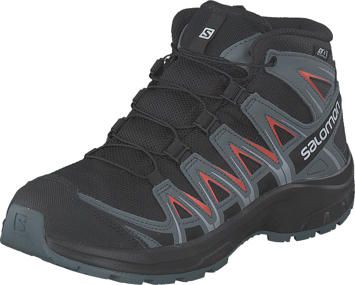 Salomon - Xa Pro 3d Mid Cswp J Black/stormy Weather/cherry To