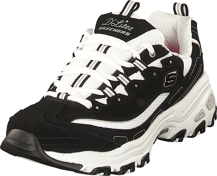 9cfe296e4366 Buy Skechers D'lites Biggest Fan Bkw black Shoes Online | FOOTWAY.co.uk