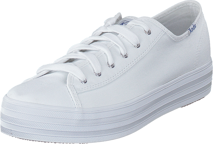 Triple Kick Canvas White