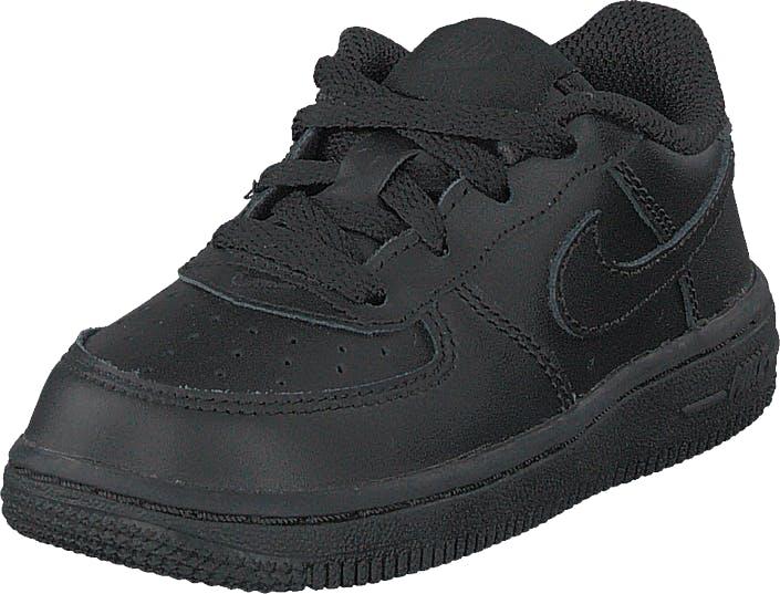 Nike Boys Air Force 1 06 (td) Black/black, Skor, Sneakers och Träningsskor, Sneakers, Svart, Grå, Barn, 19