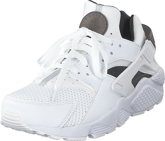 Men's and Women's Nike Air Huarache Run Big Net White Running Shoes 318429 111