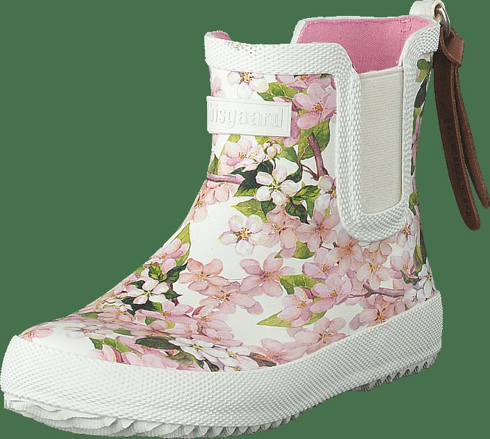 Bisgaard - Mini Rubberboot Creme Flowers