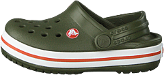 Crocband Clog K Army Green/burnt Sienna
