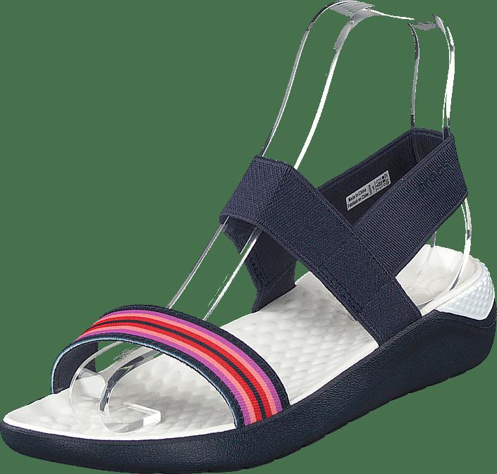 Crocs Literide Sandal W Navy Färgblock navy blåa Skor Online