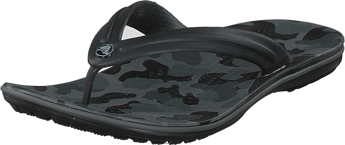 Crocs - Crocband Seasonal Graphic Flip Slate Grey/black