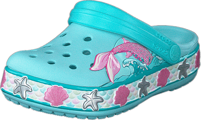 Crocs - Crocsfl Mermaid Band Clog K Ice Blue