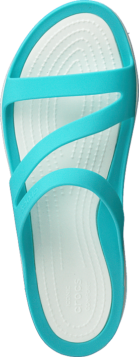 Kjøp Crocs Swiftwater Sandal W Pool/white Sko Online