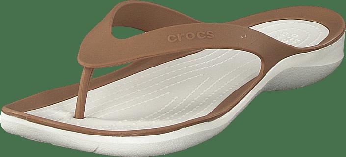 W Tøfler Flip Kjøp oyster Online Og Bronze Crocs Sko Swiftwater Brune Sandaler w4xqnqEtPC