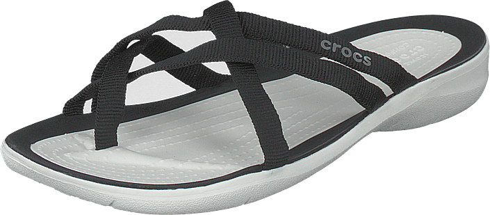 Crocs - Swiftwater Webbing Flip W Black/white